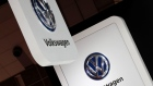FILE PHOTO: Volkswagen's logos are pictured at the 45th Tokyo Motor Show in Tokyo, Japan