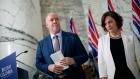 B.C. Premier John Horgan and Minister of Energy Michelle Mungall