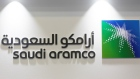 FILE PHOTO: Saudi Aramco logo is seen at the 20th Middle East Oil & Gas Show and Conference in Manama