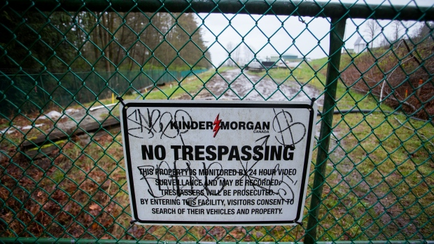 Kinder Morgan facility in Burnaby, B.C.