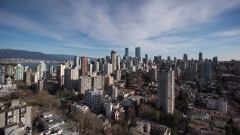 Condos and apartment buildings are seen in downtown Vancouver, B.C., on Thursday February 2, 2017