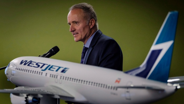 WestJet president and CEO Ed Sims