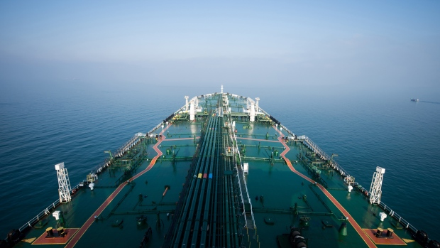 The crude oil tanker 'Devon' sails through the Persian Gulf towards Kharq Island to transport crude oil to export markets in the Persian Gulf, Iran, on Friday, March 23, 2018.