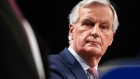 Michel Barnier, chief negotiator for the European Union (EU), looks on during a news conference following Brexit talks in Brussels, Belgium. Photographer: Dario Pignatelli/Bloomberg