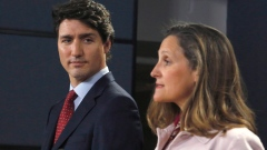 Prime Minister Justin Trudeau and Foreign Affairs Minister Chrystia Freeland