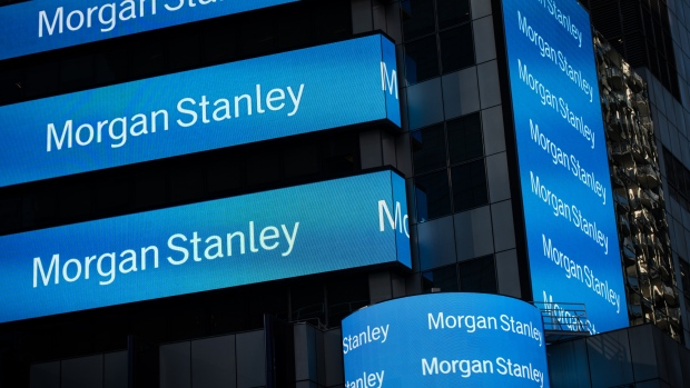 Morgan Stanley digital signage is displayed on the exterior of the company's headquarters in New York, U.S., on Friday, Oct. 7, 2016.