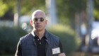 Jeff Bezos, founder and chief executive officer of Amazon.com Inc., arrives for the morning sessions during the Allen & Co. Media and Technology Conference in Sun Valley, Idaho, U.S., on Thursday, July 13, 2017. The 34th annual Allen & Co. conference gathers many of America's wealthiest and most powerful people in media, technology, and sports.