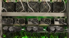 Cryptocurrency mining rigs operate in a cargo container at the Golden Fleece cryptocurrency mining company in Kutaisi, Georgia, on Monday, Jan. 22, 2018. Bloomberg