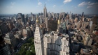 The Manhattan skyline is seen from the roof of Madison Square Park Tower at 45 East 22nd Street in the Flatiron District of New York, U.S., on Thursday, May 18, 2017.