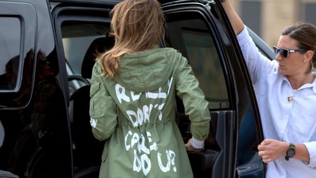 Trump says Melania's Jacket was aimed at
