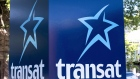 An Air Transat sign is seen in Montreal, May 31, 2016