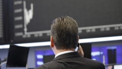 Frankfurt Stock Exchange trader
