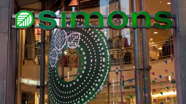 The Simons' flagship retail store is seen on Montreal's Ste-Catherine Street, November 19, 2014