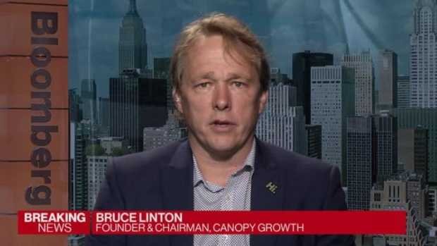 Bruce Linton, co-CEO of Canopy Growth