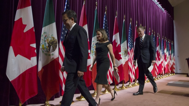Trump suggests Canada has been sidelined from latest NAFTA negotiations
