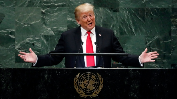 Trump UNGA speech claim prompts laughter from leaders