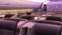 The seats on Flight SQ22's business class, which features 67 flat-bed seats in a 1-2-1 configuration