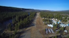 The Turnagain camp includes a one kilometre air strip.