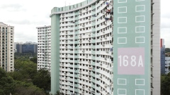 The Butterfly Block HDB public housing estate. Photographer: Ore Huiying/Bloomberg
