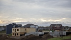 Homes stand under construction at the D.R. Horton Inc. Eastridge Woods development in Cottage Grove, Minnesota, U.S., on Friday, Oct. 19, 2018. D.R. Horton Inc. is scheduled to release earning figures on November 7th.