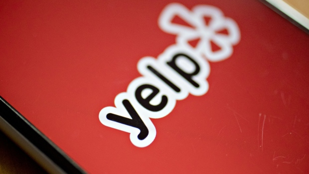 The Yelp Inc. application is displayed on for a photograph an Apple Inc. iPhone in Washington, D.C., U.S., on Saturday, Oct. 28, 2017.