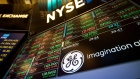 General Electric Co. signage is displayed on a monitor on the floor of the New York Stock Exchange (NYSE) in New York, U.S., on Monday, June 12, 2017.