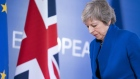 Theresa May, U.K. prime minister, departs after speaking following a special meeting of the European Council on the Brexit withdrawal agreement in Brussels, Belgium, on Sunday, Nov. 25, 2018.