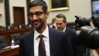 Sundar Pichai arrives to a House Judiciary Committee hearing in Washington on Dec. 11. Photographer: Andrew Harrer/Bloomberg