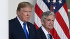 U.S. President Donald Trump, left, and Jerome Powell