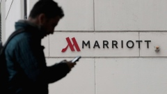 CHICAGO, IL - NOVEMBER 30: A sign marks the location of a Marriott hotel on November 30, 2018 in Chicago, Illinois. Marriott says their Starwood guest reservation database was hacked, compromising the security of private information for up to 500 million hotel customers. (Photo by Scott Olson/Getty Images)