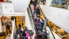 Shoppers at a J.C. Penney Co. store in Garden City, New York, U.S., on Thursday, Nov. 22, 2018. Deloitte expects sales store from November to January to rise as much as 5.6 percent, to more than $1.1 trillion, marking the best holiday period in recent memory.