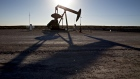 A pumpjack operates on an oil well in the Permian Basin near Orla, Texas, U.S., on Friday, March 2, 2018.