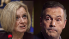 Rachel Notley and Jason Kenney
