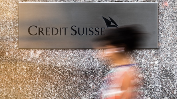 A pedestrian walks past the Credit Suisse Group AG headquarters in New York, U.S., on Wednesday, Sept. 19, 2018. Credit Suisse and UBS Group AG could manage a potential share sale of Stadler Rail AG as it explores a potential initial public offering.