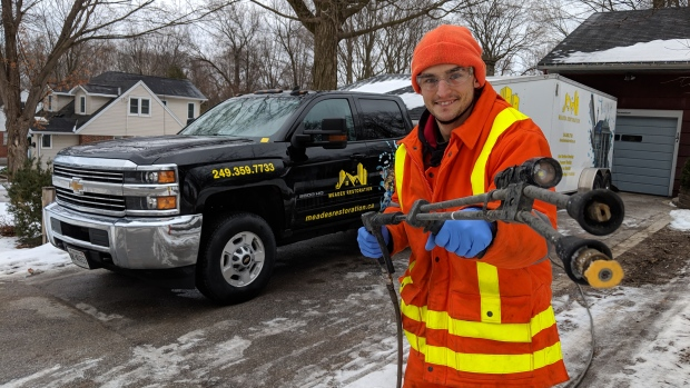 Andrew Meades, owner of commercial cleaning company Meades Restoration