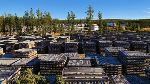 Core shack at the Wheeler River project located in northern Saskatchewan.