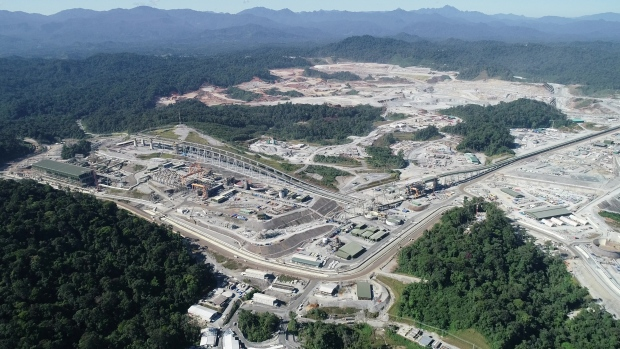 An overall view of First Quantum Minerals' Cobre Panama mine and plant.