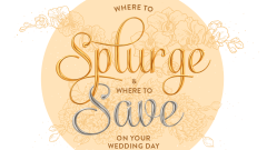 Where to splurge and where to save on your wedding day