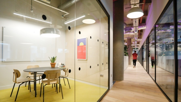 WeWork Cos. co-working space in London Photographer: Luke MacGregor/Bloomberg