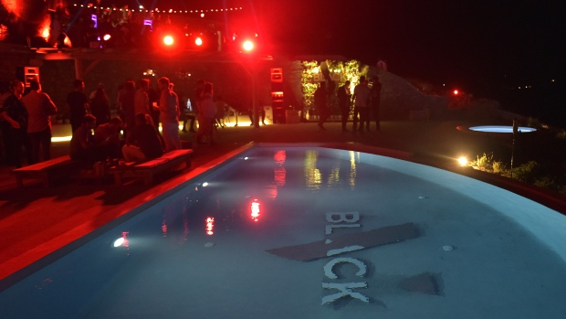 A Velocity Black private villa experience party in Mykonos, Greece.