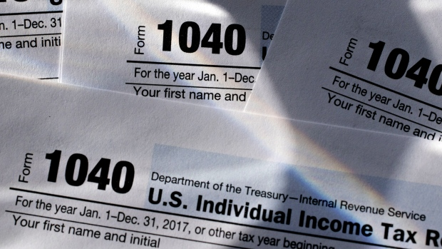 U.S. Department of the Treasury Internal Revenue Service (IRS) 1040 Individual Income Tax forms for the 2017 tax year.