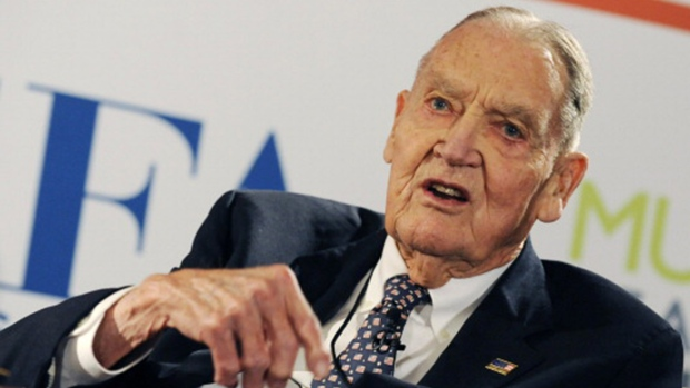 "John ""Jack"" Bogle Sr., founder of Vanguard Group, speaks at the Council of Institutional Investors spring luncheon in Washington D.C. April 11, 2005."
