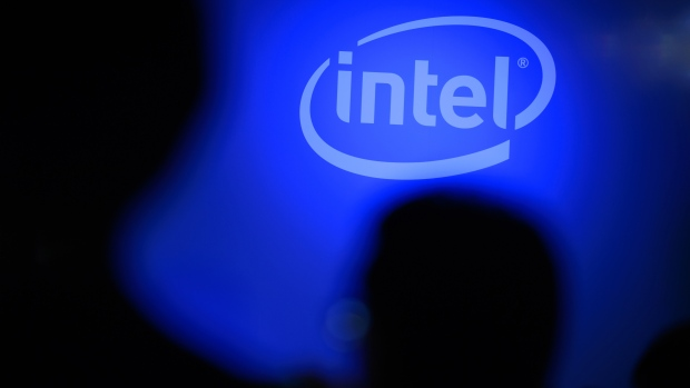 Intel Corp. signage is displayed in front of the company's headquarters in Santa Clara, California, Oct. 17, 2016.