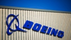 The Boeing Co. logo stands on its factory in Sheffield, U.K.