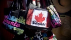 Bags are displayed for sale at a tourist shop in Toronto, Ontario, Canada, on Wednesday, June 29, 20