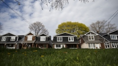 Houses stand in Toronto, Ontario, Canada, on Thursday, May 11, 2017.