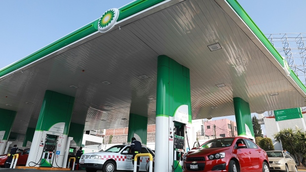 Automobiles refuel at Mexico's first BP Plc gas station in Mexico City, Mexico, March 10, 2017