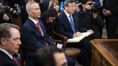 Liu He during a trade talk meeting at the White House on Jan. 31.
