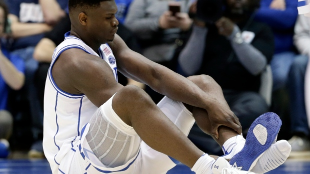 b1ce30555c481 Nike target of Twitter storm after basketball star s shoe splits - BNN  Bloomberg