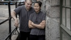 Noma alum Kim Mikkola (left) and Evelyn Kim, his wife and sous chef, outside their restaurant, Inari. Photographer: Gary He/Bloomberg